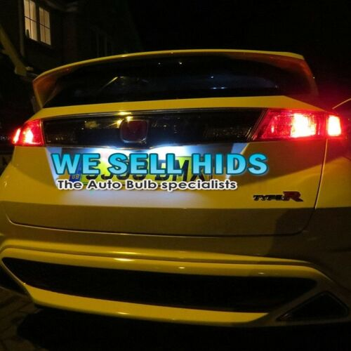 HONDA CIVIC MK8 FN2 XENON WHITE LED NUMBERPLATE LIGHT BULBS ERROR FREE license