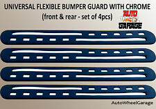 Bumper Protection Flexible Guard for Mahindra XUV500-Chrome inserts-set of 4