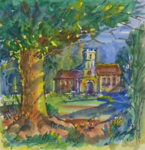 Clifford-H-Thompson-1926-2017-Set-of-Four-2009-Watercolours-Rural-Scenes