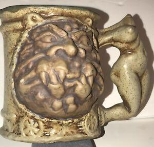 Rumph-Nude-Headless-Maiden-Handled-Tankard-Ogre-Magical-Symbols-1971-Pottery-Mug