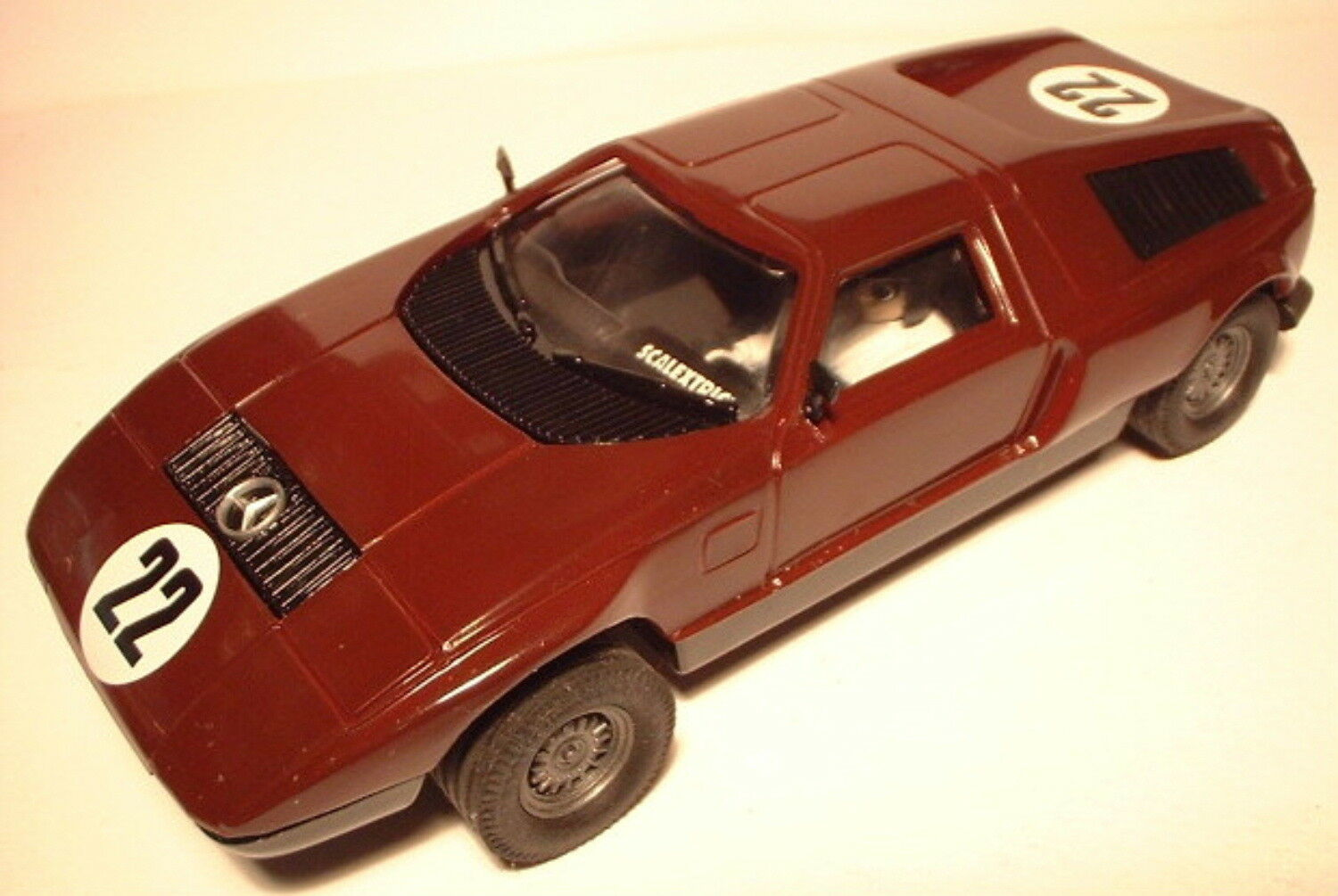 Qq SCX SPAIN PLANET CARS MYTHICAL MERCEDES WANKEL C 111 No 22 BURGUNDY L. E.