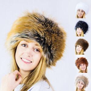 Futrzane-New-Ladies-Faux-Fox-Fur-Russian-Cossack-Style-Winter-Hat-Women-Ski