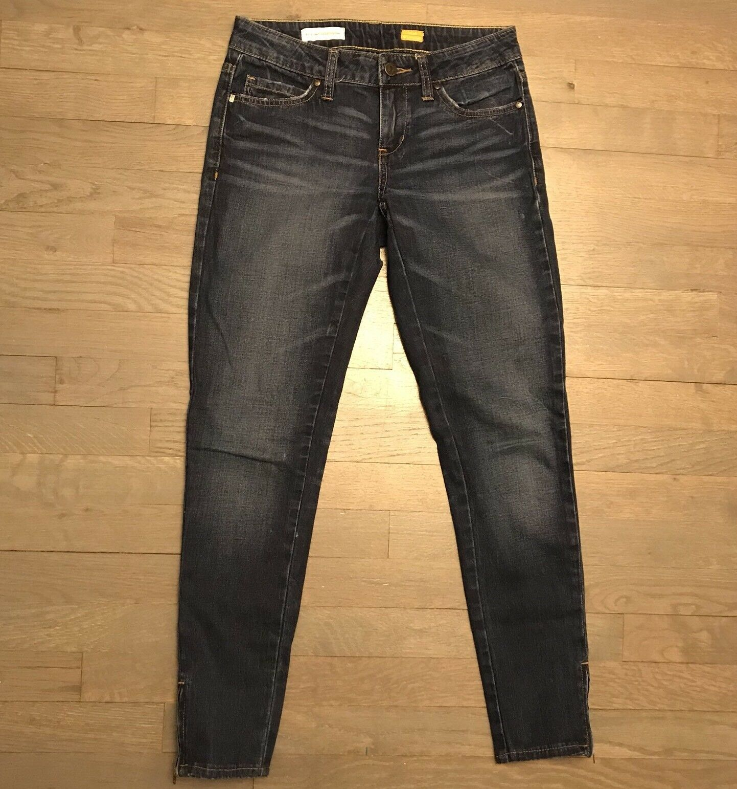 Pilcro And The Letterpress Low Rise Straight Ankle Zip Stretch Denim Jeans 26
