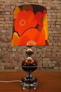 70s tischlampe vintage 70er lampe goldene tischleuchte sideboard leuchte 60er ebay. Black Bedroom Furniture Sets. Home Design Ideas