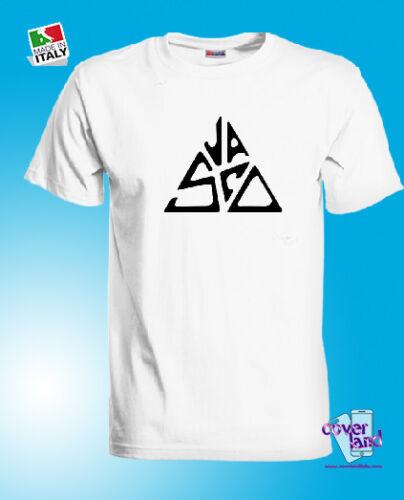 100/% Cotone Jersey T-shirt maglietta VASCO ROSSI Bianca White