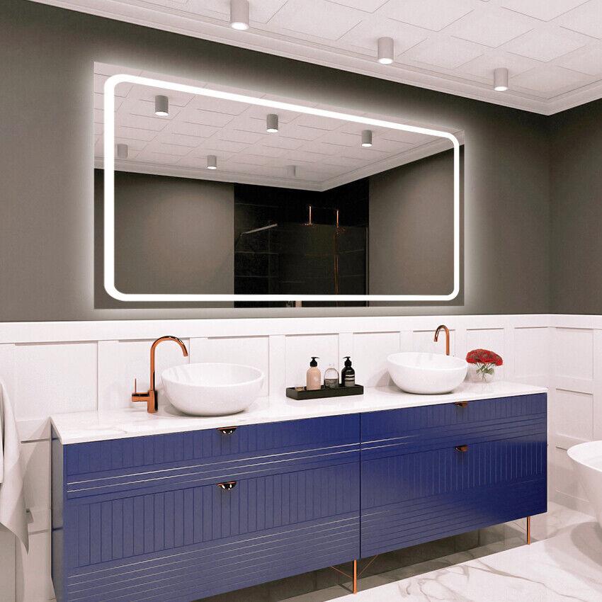 LED Espejo de baño iluminado   Variantes de tamaño   Moderno   PREMIUM M1ZP-58