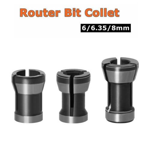 6// 6.35// 8mm Shank Router Bit Extension Collet Chuck Rod Trim Router Engraving