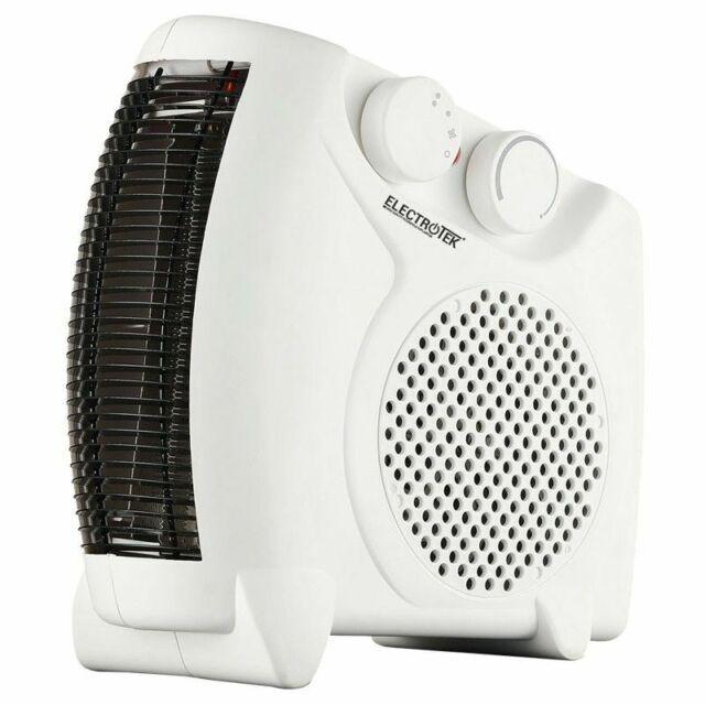 Calefactor eléctrico 2 ajustes de temperatura 1000/2000W. ELECTROTEK ET-TV05