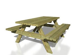 Picknicktisch Ruby 161 X 179 Cm Tisch Bank Gartentisch Gartenmobel