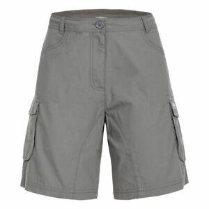 Trespass-Nova-Womens-Summer-Shorts-Travel-Walking-Cargo-Style-Cotton-Blend