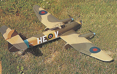 Templates /& Instructions 45ws 1//12 Scale British WW-II Westland Whirlwind Plans