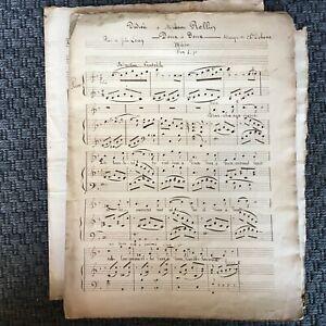 Spartito Manoscritto XVIII XIX Secolo Canzoniere Romance Pastourelle Ode