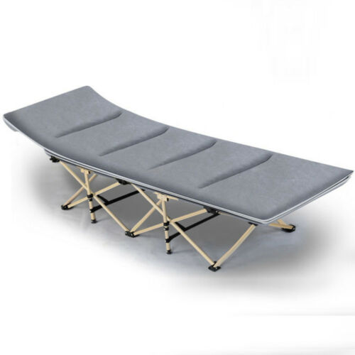 Portable Folding Bed Camping Rollaway Cot w// Storage Bag /&Mattress Strong Stable