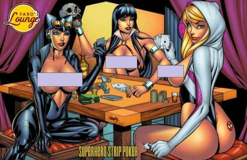 Catwoman Vampirella Faro/'s Strip Poker Lounge Semi Final Spider-Gwen