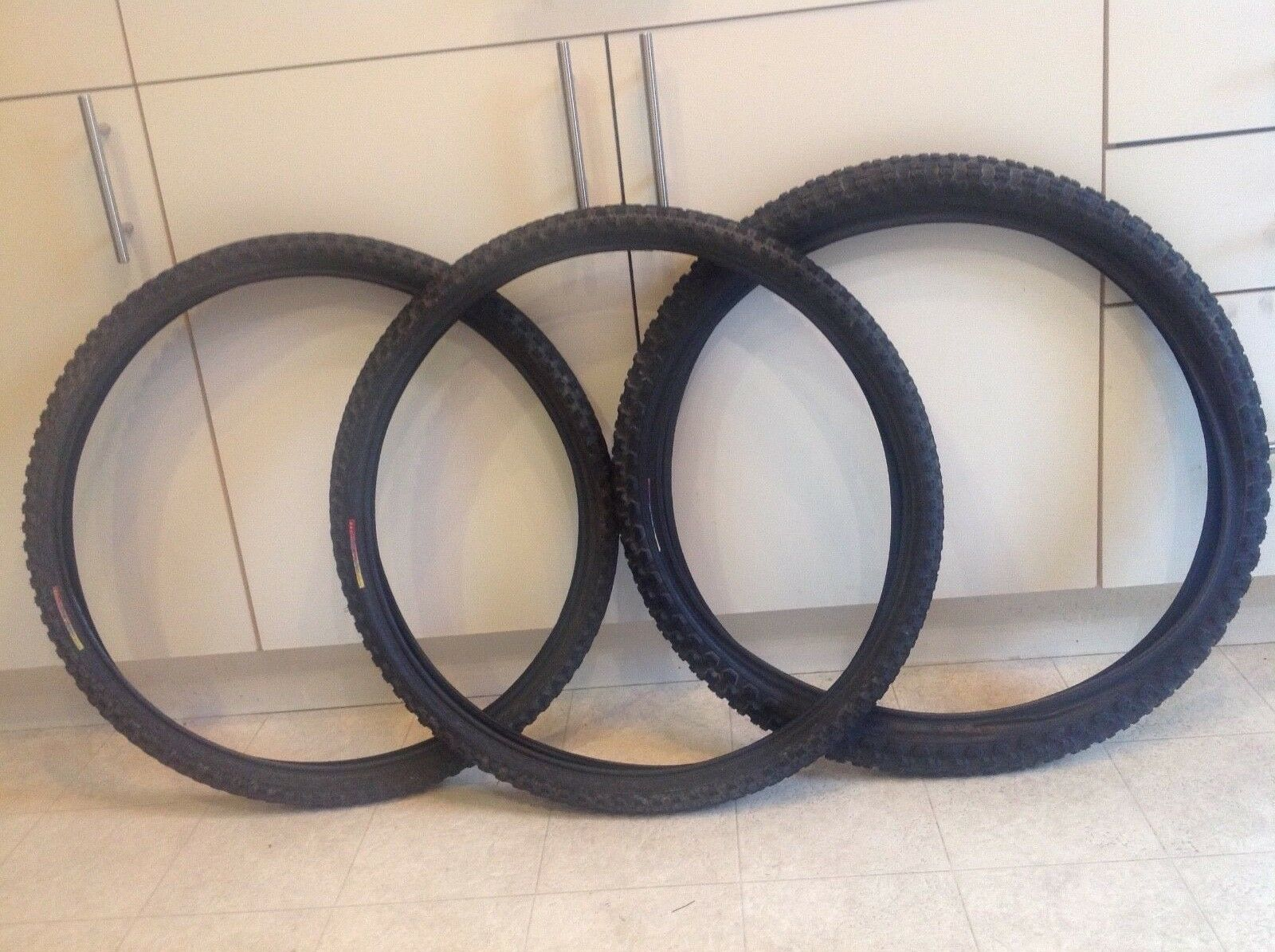 Lot of old school cruiser bmx tires tioga rainbow label