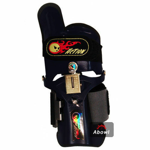 LOCK ON ACTION BLACK RIGHT Hand Bowling Wrist Support Accessories Sports/_ig