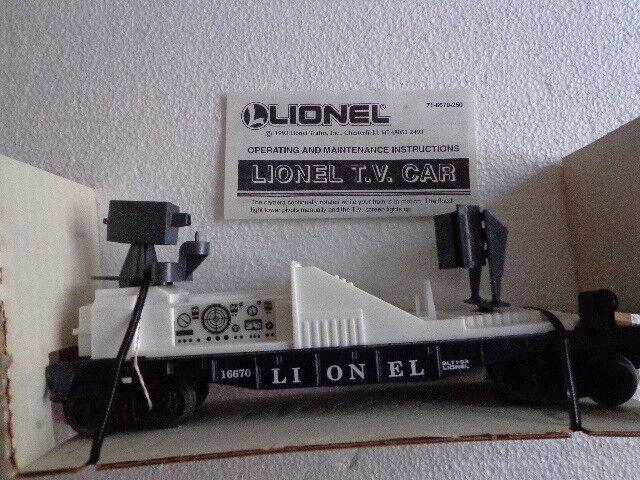 NIB NIB NIB 6-16670 LIONEL O e 027 GAUGE T.V. auto DATED 1993 f6c4cc