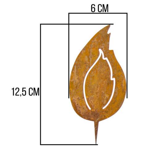 Edelrost deco jardin flammes /& COEUR Rouille Connecteur /& Cintre Terrasse Métal