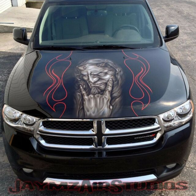 Custom Paint and Airbrushing on Your Vehicle's Hood