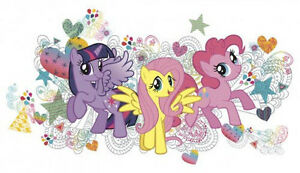 Details About My Little Pony Wall Stickers Mural Decals Twilight Sparkle Fluttershy Pinkie Pie
