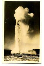 Old Faithful-Yellowstone National Park-Wyoming-RPPC-Vintage Real Photo Postcard