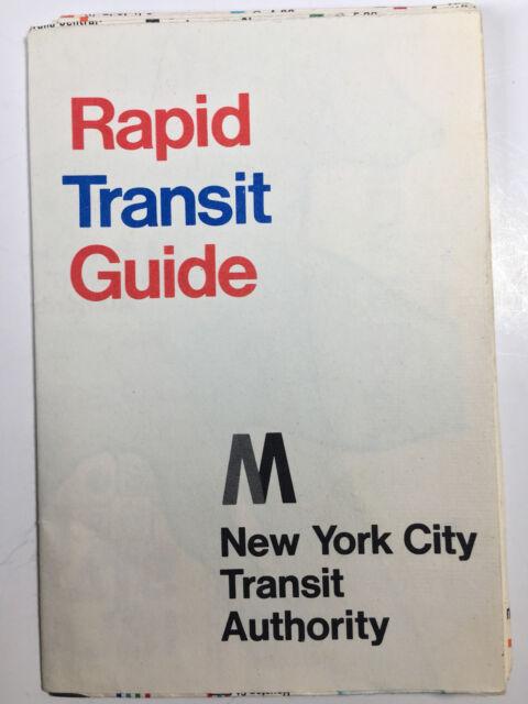 Vintage NYC Subway Map 1968 MTA Rapid Transit Guide