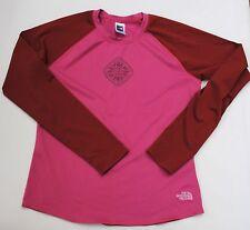 The North Face Women's Women's Long Sleeve Shirt VaporWick Pink/Red Crew Neck