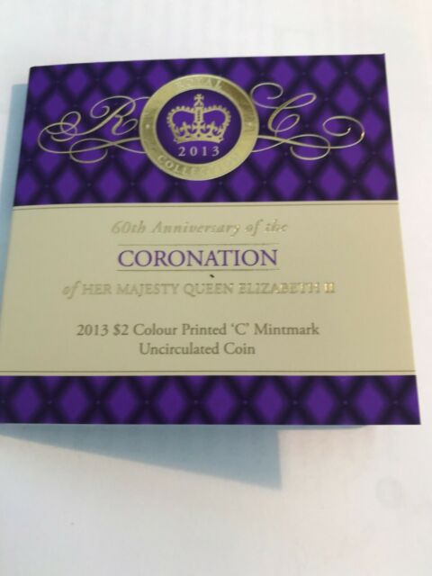 "2013 Purple ""c"" Mintmark Coin in Card 60th Anniversary ..."