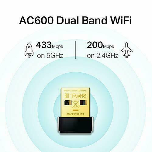 TP-Link Archer T2U Nano AC600 Wireless Dual Band Nano USB Wi-Fi Network Adapter