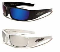 NEW CHOPPERS MENS BOYS SUNGLASSES RUNNING BIKERS SPORTS BLACK  WHITE WRAP UV400