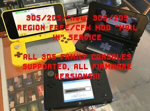 Details about ***3DS/2DS/'new' 3DS/2DS Custom Firmware 11 9 CFW MOD  MODIFICATION SERVICE***
