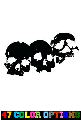 Vinyl Decal Truck Car Sticker Laptop Horror Zombie Halloween Smiling Skull