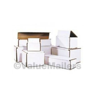 100-6x4x3-White-Corrugated-Shipping-Mailer-Packing-Box-Boxes-6-x-4-x-3
