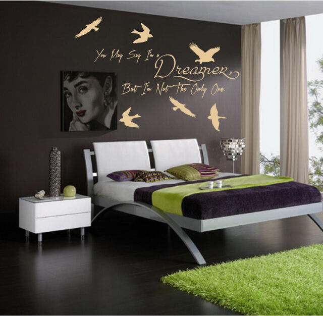WALL QUOTES YOU MAY SAY I/'M A DREAMER WALL QUOTE  Wall Sticker Home Decor S44