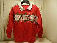 LOOK The UGLIEST ugly crazy tacky vintage CHRISTMAS party SWEATER  LT-14