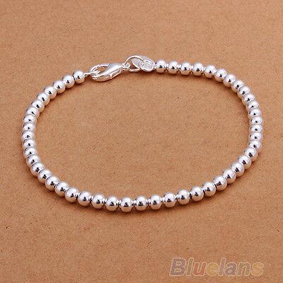 Fashion Women's Religious Silver Plated Jewelry Beads Bracelet Bangle