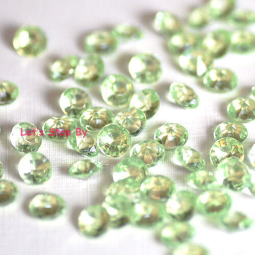 10000 Green Acrylic Diamond Confetti 4.5mm for Wedding Decoration Table Scatters