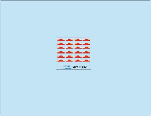HO//1:87 DIS 0332 Rücklichter 12 Paar für Auflieger
