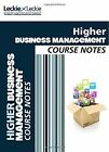 CfE Higher Business Management Course Notes (Course Notes) by Lee Coutts, Leckie & Leckie (Paperback, 2014)