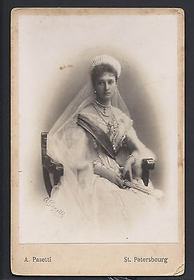 Tsarina Alexandra Feodorovna Romanov Antique Imperial Russian Pasetti Photo