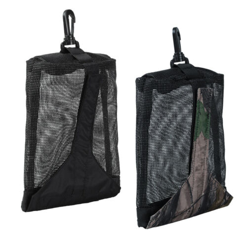 Snorkeling Weight Pocket Scuba Underwater Pouch Storage Mesh Bag with Clip