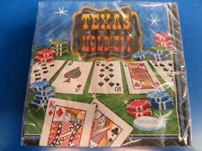 Texas Hold 'Em Casino Night Card Suits Poker Theme Party Paper Beverage Napkins