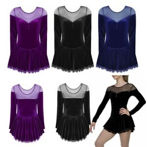 Girls-Women-Latin-Rumba-Ice-Figure-Skating-Dress-Competition-Ballet-Dancewear