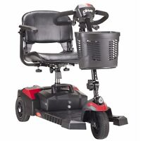 Drive Medical - SFSCOUT3 Spitfire Scout 3 Wheel Travel Power Scooter Black Health Aids