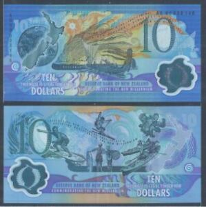 New Zealand $10 Millenium 2000 (Used), Low number AG00038146