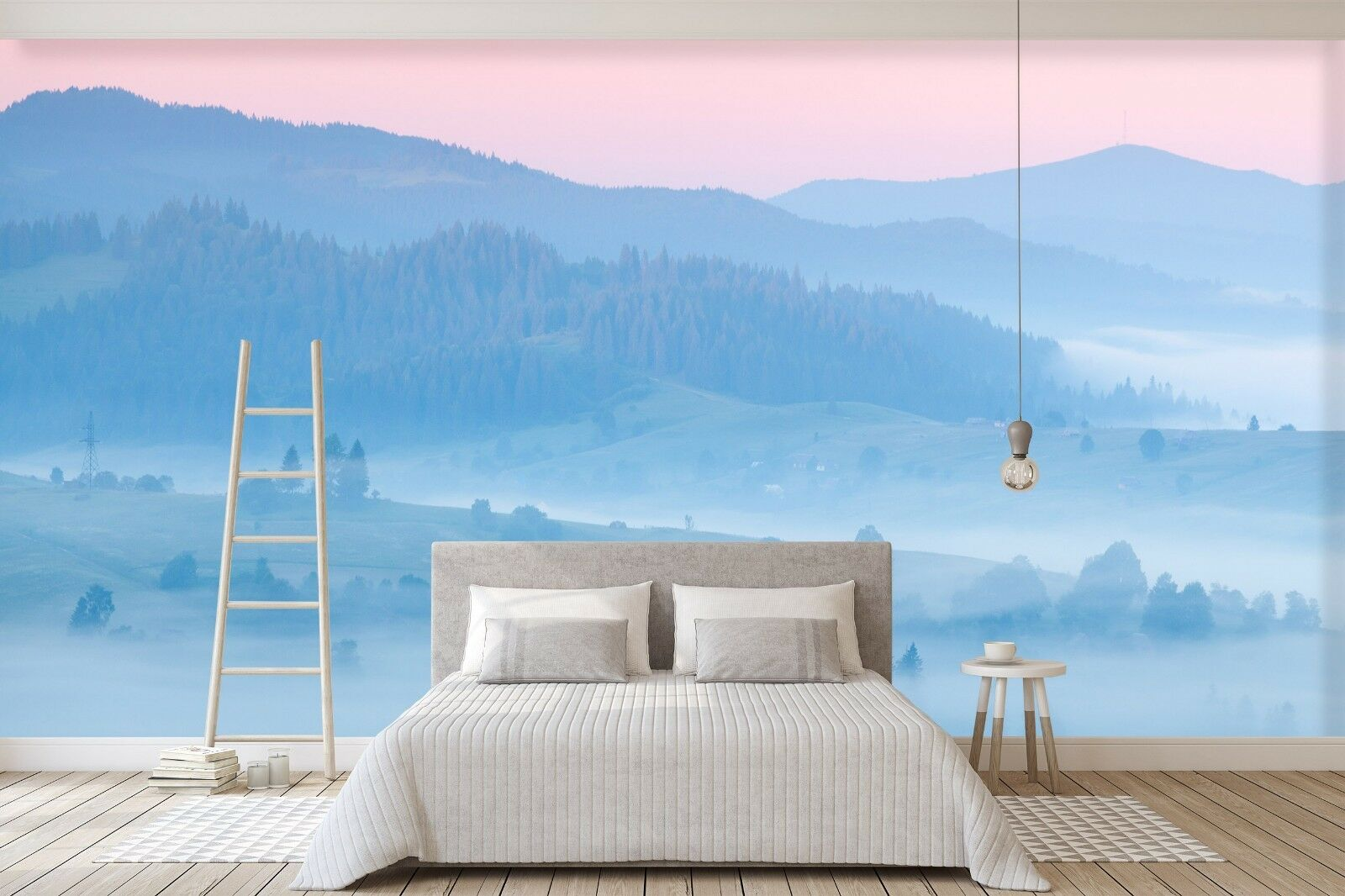 3D Blau Mountain 791 Wall Paper Print Wall Decal Deco Indoor Wall Murals US