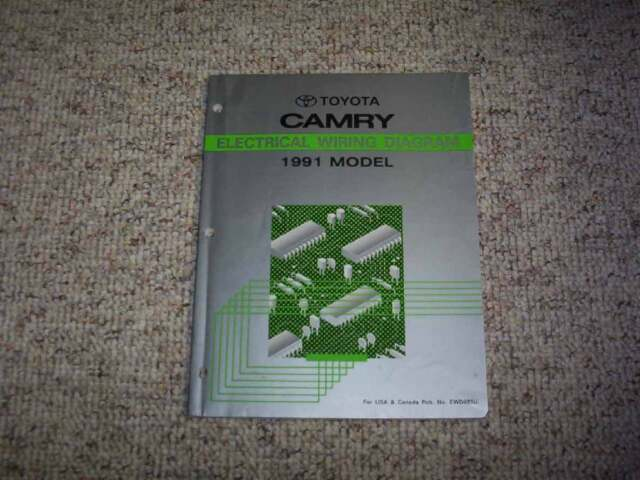 1991 Toyota Camry Electrical Wiring Diagram Manual Std Dx Le Wagon All Trac