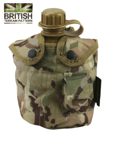 Army Combat Military Water Bottle BTP US GI British Camo Waist Belt Pouch Clip