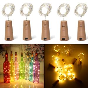 LED-Cork-15-20-30-50-Lights-String-Bottle-Stopper-Lamp-Light-Wedding-Event-Pb