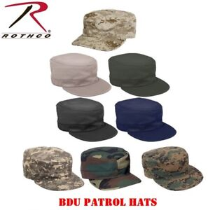 Camouflage Hat Military Style Patrol Hat Fatigue Cap Army Navy Air ... 27e45510d90